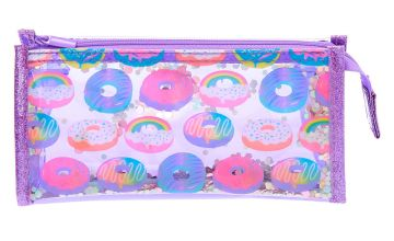 Go to Product: Donuts Shaker Sequin Makeup Bag - Purple