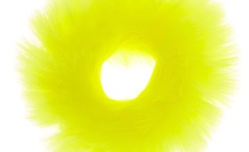 Go to Product: Medium Faux Fur Hair Scrunchie - Neon Yellow