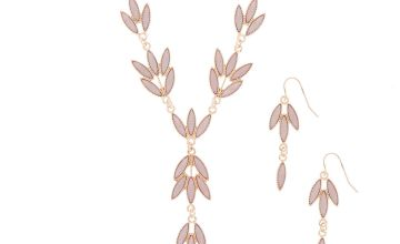 Go to Product: Rose Gold Leaf Jewellery Set - Blush, 2 Pack