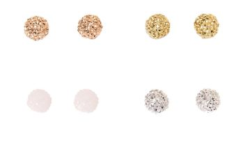 Go to Product: Mixed Metal Small Fireball Stud Earrings