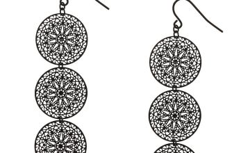 Go to Product: Black Filigree Circle Drop Earrings