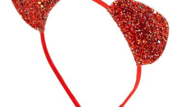Go to Product: Iridescent Glitter Cat Ears Headband - Red