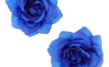 Go to Product: Rose Flower Hair Clips - Navy Blue