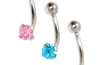 Go to Product: Silver Cubic Zirconia 16G Pastel Crystal Rook Earrings - 3 Pack