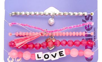 Go to Product: Love Beaded Stretch Bracelets - Pink, 5 Pack