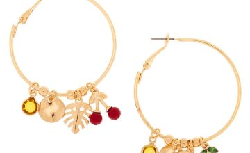 Go to Product: Gold 40MM Cherry Leaf Hoop Earrings