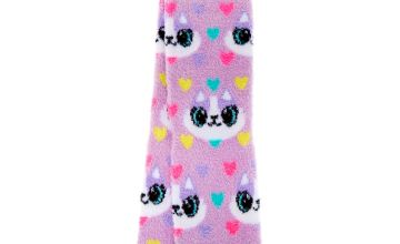 Go to Product: Carly the Cat Fuzzy Crew Socks - Purple