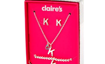Go to Product: Silver Rainbow Initial Jewellery Gift Set - K, 4 Pack