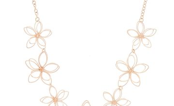 Go to Product: Rose Gold Wire Flower Statement Necklace