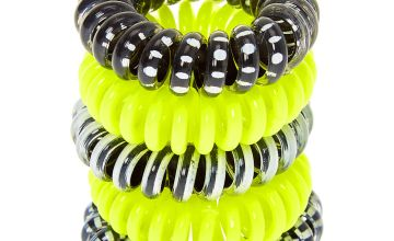 Go to Product: Neon Monochrome Mini Spiral Hair Bobbles - Yellow, 5 Pack