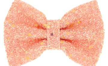 Go to Product: Mini Cake Glitter Hair Bow Clip - Rose Gold