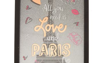 Go to Product: Paris Love Wall Art - Black