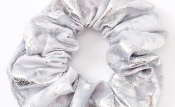 Go to Product: Medium Metallic Marble Hair Scrunchie - Silver