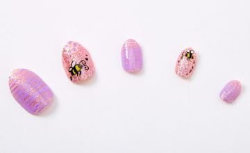 Go to Product: Glitter Bumble Bee Stiletto Press On Faux Nail Set - 24 Pack