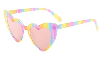 Go to Product: Rainbow Striped Heart Wing Sunglasses