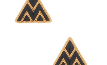 Go to Product: 18kt Gold Plated Triangle Stud Earrings - Black
