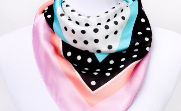 Go to Product: Square Artsy Polka Dot Satin Fashion Scarf - Purple