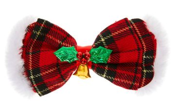 Go to Product: Plaid Hair Bow Clip - Red