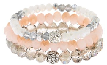 Go to Product: Beaded Stretch Bracelets - Pink, 3 Pack