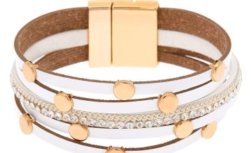 Go to Product: Gold Layered Wrap Bracelet - White