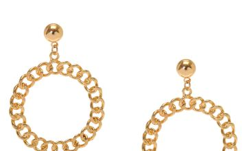 Go to Product: Gold Circle Drop Earrings