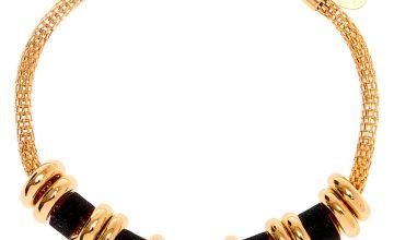 Go to Product: Gold Glitter Ring Chain Bracelet - Black