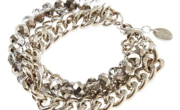 Go to Product: Silver Chrome Multi-Layer Chain Link Bracelet