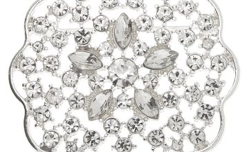 Go to Product: Silver Rhinestone Floral Burst Brooch