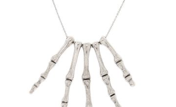 Go to Product: Silver Skeleton Hand Necklace