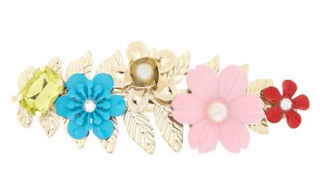 Go to Product: Bright Floral Hair Barrette - Gold