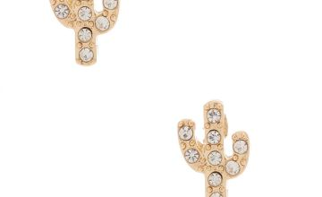 Go to Product: Gold Crystal Cactus Stud Earrings