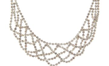 Go to Product: Silver Rhinestone Draped Choker Necklace