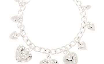 Go to Product: Silver Heart Locket Charm Bracelet