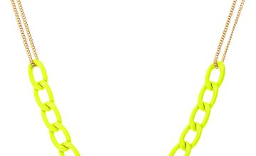 Go to Product: Gold Chain Link Statement Necklace - Yellow