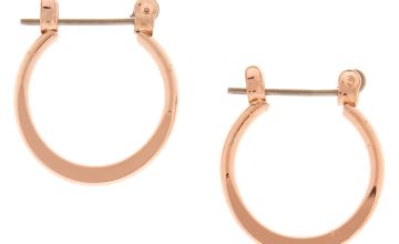 Go to Product: Rose Gold 15MM Knife Edge Hoop Earrings