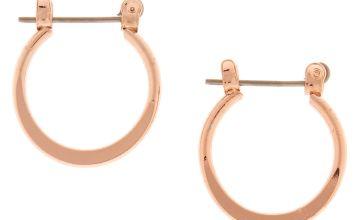 Go to Product: Rose Gold 15MM Knife Edge Hoop Earrings