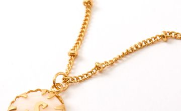 Go to Product: Gold Shell Initial Pendant Necklace - S