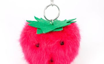 Go to Product: Plush Pom Strawberry Keychain - Pink