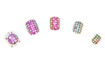 Go to Product: Holographic Disco Ball Press On Faux Nail Set -24 Pack
