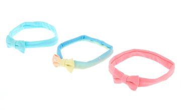 Go to Product: Claire's Club Pastel Jersey Bow Headwraps - 3 Pack