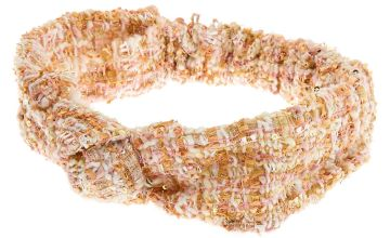 Go to Product: Pink & Gold Tweed Knotted Headwrap