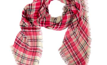 Go to Product: Plaid & Leopard Oversized Scarf - Pink