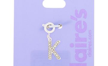 Go to Product: Silver Embellished Initial Bracelet Charm - K