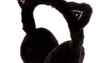 Go to Product: Embellished Cat Soft Ear Muffs - Black