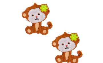 Go to Product: Monkey Business Stud Earrings - Brown