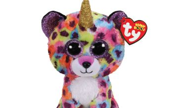 Go to Product: Ty Beanie Boo Small Giselle the Unicorn Leopard Soft Toy