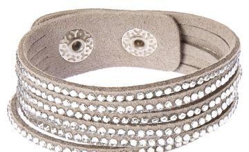 Go to Product: Studded Layered Wrap Bracelet - Grey