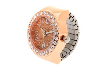 Go to Product: Rose Gold Glitter Ring Watch