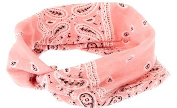 Go to Product: Wide Jersey Bandana Headwrap - Rose Pink