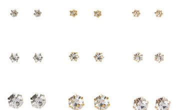 Go to Product: Mixed Metal Graduated Crystal Stud Earrings - 9 Pack